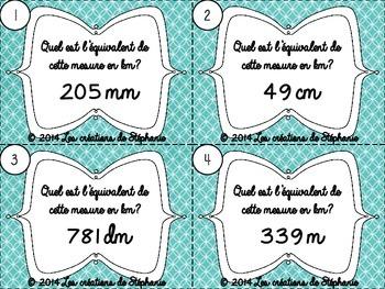 Les cartes à tâches : La mesure