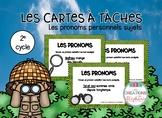 Les cartes à tâches : Les pronoms personnels sujets FRENCH
