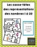 Les casse-têtes des représentations des nombres 1 à 20 (puzzles)