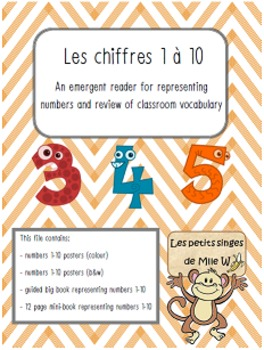 Les chiffres 1 à 10 - Emergent reader for numbers 1-10