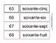Les chiffres 1-100 avec les activités à code de couleur
