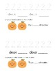 Les chiffres 1 à 10 - math booklet - halloween - automne/automne