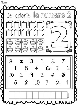 Les chiffres - Learning About Numbers 1-10