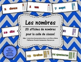 Les chiffres - affiches pour le mur (French Number Posters)