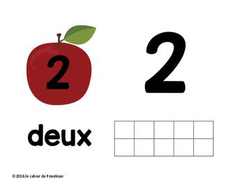 Les chiffres de 1 à 10 (thème des pommes)