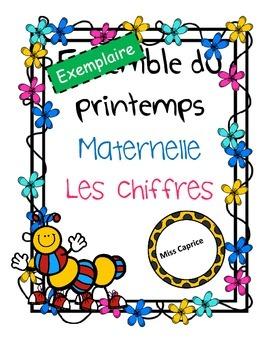 Les chiffres (gratuit) - Maternelle - Miss Caprice