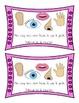 Les cinq sens - The Five Senses - emergent reader