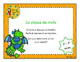 Les classes de mots - 2e-3e année