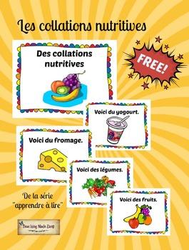 Les collations nutritives - affiches et cartes éclair
