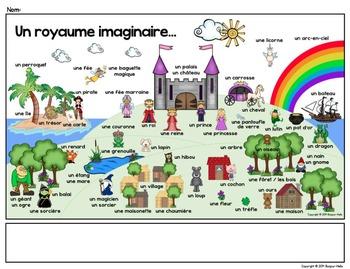 Les contes de fées: French Fairy Tale Word Wall / Mur de mots