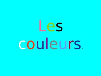Les couleurs - Accord Colours and agreement