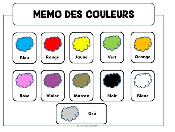 Colors in French- activities and games