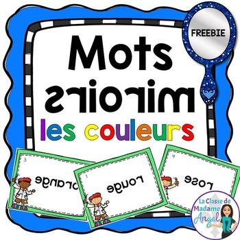 Les couleurs:  Colour Themed Vocabulary Center - Mots Miroirs