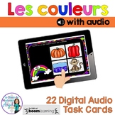 Les couleurs:  French Colours Themed Digital Audio Task Cards - BOOM CARDS