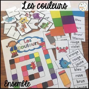 Les couleurs - Ensemble - French Colors/Colours - Bundle