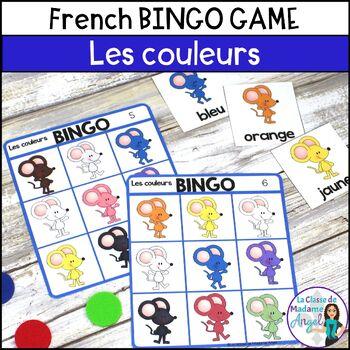 Les couleurs:  French Colour (Color) Bingo Game