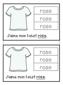 French Colours Bundle- Les couleurs