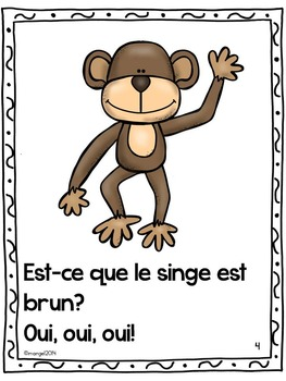 Les couleurs:  French Emergent Reader Featuring the Colour (Color) Brown
