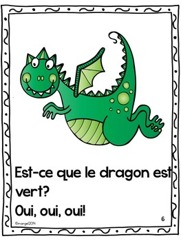 Les couleurs:  French Emergent Reader Featuring the Colour (Color) Green