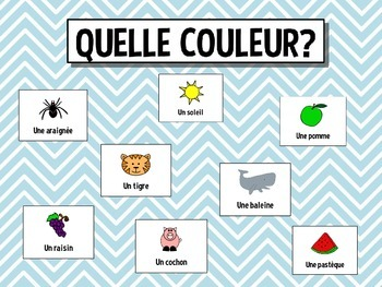 Les couleurs - Teaching colors in French