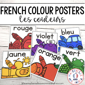 Les couleurs - affiches (FRENCH Colour Color posters)