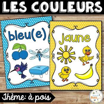 Les couleurs - affiches - à pois - French Colors - Posters