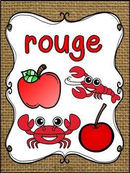 Les couleurs - affiches - burlap (toile) - French Colors - Posters