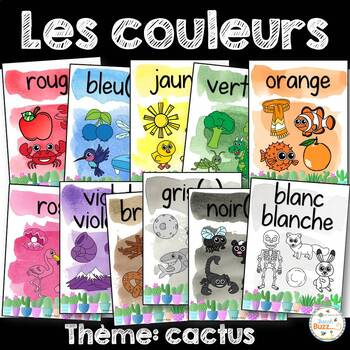 Les couleurs - affiches - cactus - French Colors - Posters