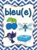 Les couleurs - affiches - chevron - French Colors - Posters