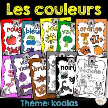 Les couleurs - affiches - koalas - French Colors - Posters