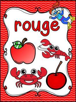 Les couleurs - affiches - océan - French Colors - Posters