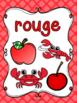 Les couleurs - affiches - quadrillage - French Colors - Posters