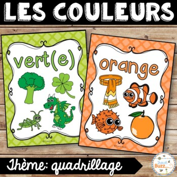 Les couleurs - affiches - quadrillage - French Colors - Posters