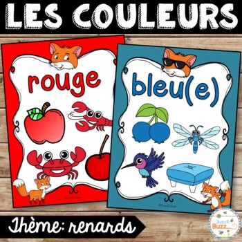 Les couleurs - affiches - renards - French Colors - Posters