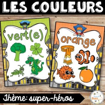 Les couleurs - affiches - super-héros - French Colors - Posters