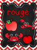 Les couleurs - affiches - tableau noir et chevron - French Colors - Posters