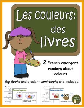 Les couleurs (des livres) - French colours - Emergent reader (2 books)