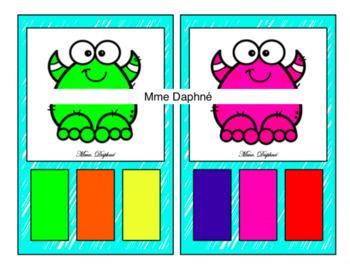 Les couleurs des monstres