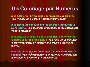 Les couleurs et les autres adjectifs