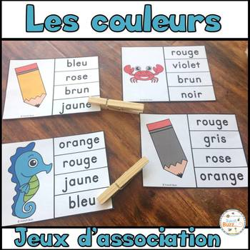 Les couleurs - jeu d'association #2 / French Colors