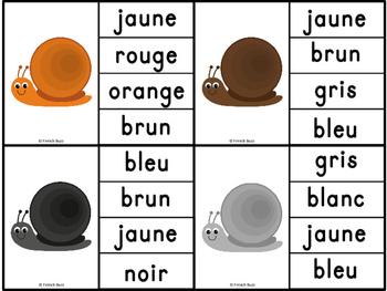 Les couleurs - jeu d'association #2 / French Colors