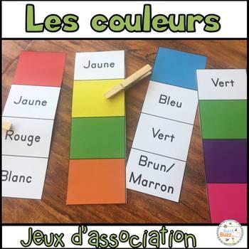 Les couleurs - jeu d'association 1 / French Colors game