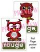 Les couleurs (les affiches pour la classe) - French colour posters - 3 sizes