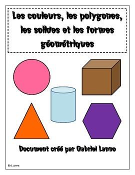 Les couleurs, les polygones, solides et formes géométriques (AFFICHES) V1