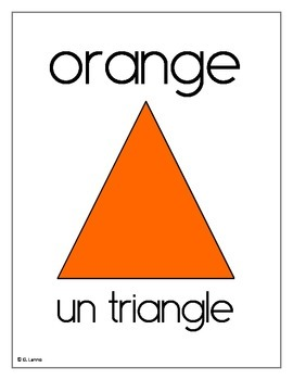 Les couleurs, les polygones, solides et formes géométriques (AFFICHES) Version 2