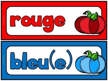 Les couleurs - mur de mots - vocabulaire GRATUIT!