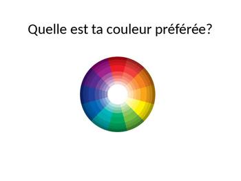 Les couleurs (vocabulary presentation)