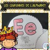 Les couronnes de l'alphabet:  French Alphabet Crowns