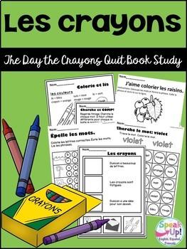 Les crayons {The day the crayons quit} Colors/les couleurs Book Study {français}