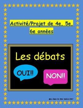 Les débats: 4e, 5e, 6e année